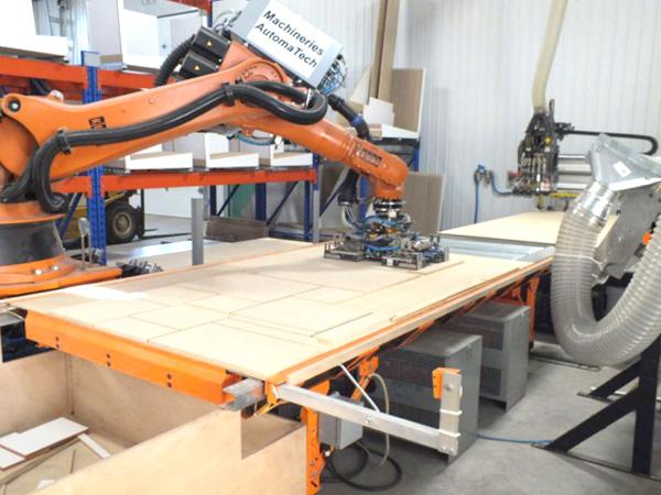 机器人木板下料